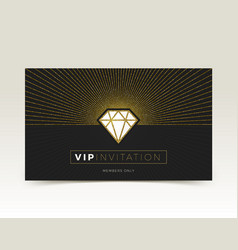 template of vip invitation vector image