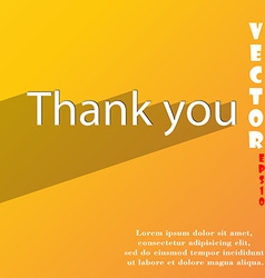 Thank you icon symbol flat modern web design with vector