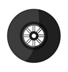 tire car race shadow vector image