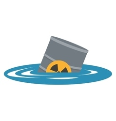 toxic waste contamination on water icon vector image