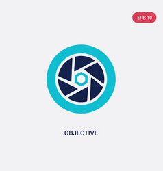 two color objective icon from electronic stuff vector image