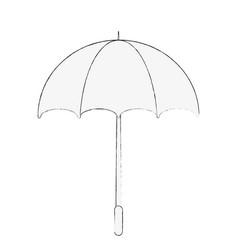 umbrella striped icon image vector image