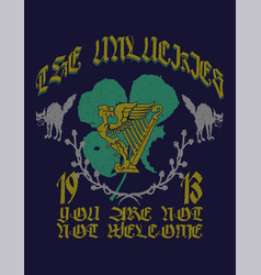 Unlucky clover irish pub vector