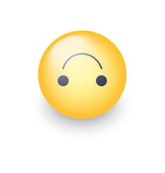 Upside-down happy emoticon cartoon cute vector