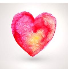 Watercolor Love Heart vector image