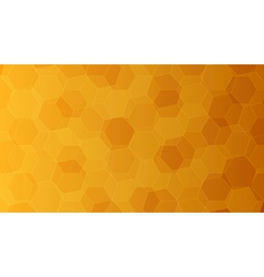 Background with orange and yellow honeycombs vector image vector image