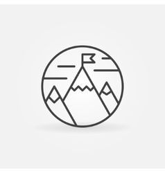 Goals achievement line icon vector image vector image
