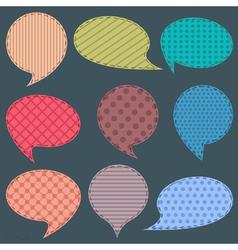 set of textile speech bubbles vector image vector image