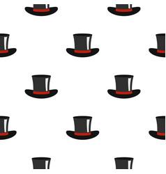 silk hat pattern flat vector image