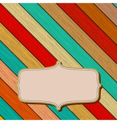 Colorful wooden background with copyspace EPS8 vector image vector image