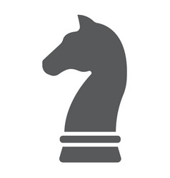 horse chess glyph icon development and business vector image