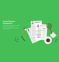 human recource management vector image vector image