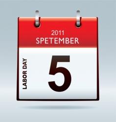 Labor Day calendar vector image vector image
