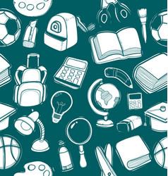 school element doodle pattern vector image