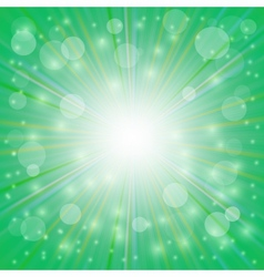 Sun Green Background vector image vector image