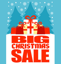 big christmas sale poster vector image vector image