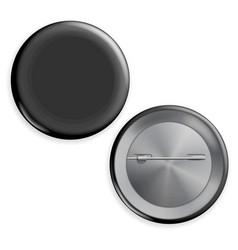 blank black badge advertise blank round vector image vector image