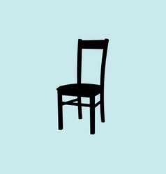 chair icon isolated on ligth vector image