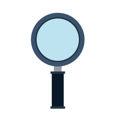 color silhouette of magnifying glass vector image