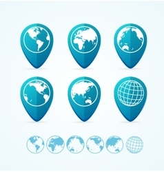 Globe Icon Set Tags vector image