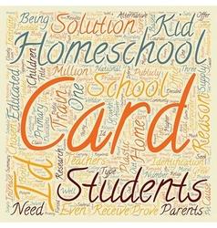 Homeschool id cards text background wordcloud vector