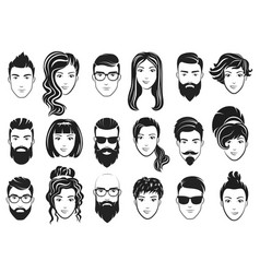 men with stylish beards and vector image vector image