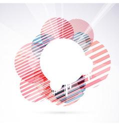 Modernistic circle bright retro design element vector image vector image