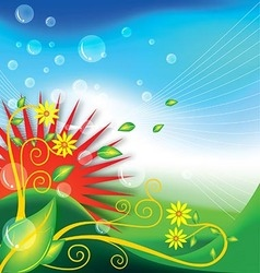 Background leafs FLORAL NATURE vector image vector image