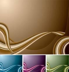 quad swirl background vector image vector image