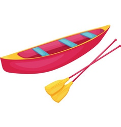 Red and yellow canoe vector image