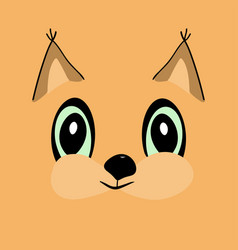 squirrel head cute cartoon vector image vector image