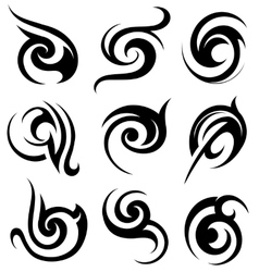 Tribal art shapes vector image vector image