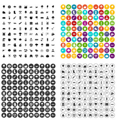 100 tree icons set variant vector