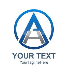 3d abstract ah letter technology logo a letter h vector