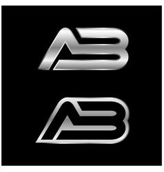 ab letter type logo design ab logo template vector image