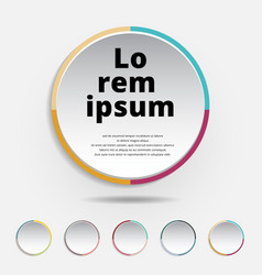 Abstract 3d circle label colorful border vector