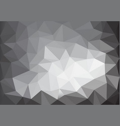 abstract gray tone light low polygon background vector image