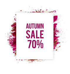 autumn-sale vector image
