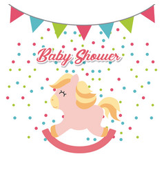 baby shower invitation cute toy vector image