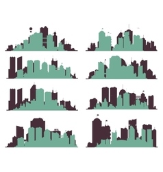 Big City Skylines vector image