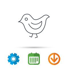 bird icon chick with beak sign vector image