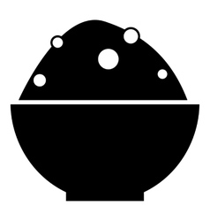 Bowl of food icon simple style vector