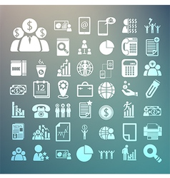 Business icons and Finance icons Set on Retina bac vector image