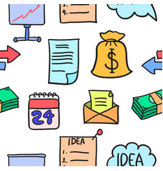 Business object doodles style vector