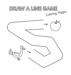 cartoon duck coloring book game for kids vector image