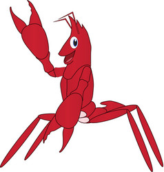 Cartoon of a friendly lobster vector