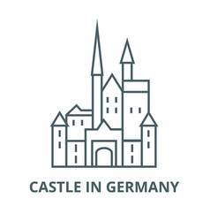 castle in germany line icon castle in vector image