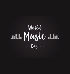 celebration world music day background style vector image