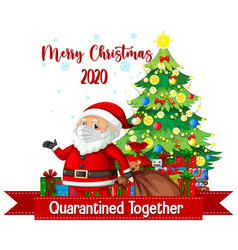christmas celebrating during covid19 vector image