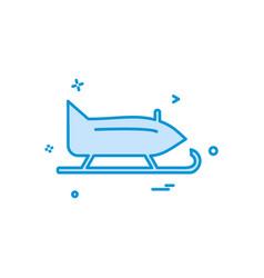 christmas snow skating icon design vector image